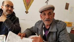 Ali Azadeh, an AZROU activist (photo: Lina Shanak)