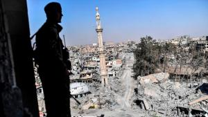 The ruins of Raqqa following the defeat of Islamic State (photo: Getty Images/AFP/B. Kilic)
