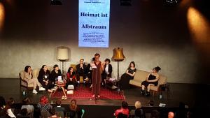 """Book launch of """"Eure Heimat ist unser Albtraum"""" (photo: Ceyda Nurtsch)"""