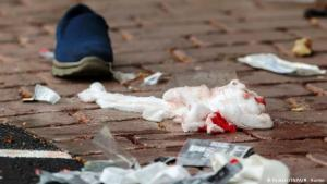 "Christchurch mourns the victims of the terrorist attack. ""There was blood everywhere"". Photo: Reuters/SNPA/M.Hunter"