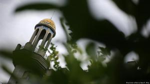 Minaret detail of the King Fahd Academy, Bonn, 29.08.2016 (photo: picture-alliance/dpa/O. Berg)