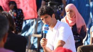 "Jaafar Abdul Karim, editor-in-chief and presenter of the Deutsche Welle's Arabic-language youth programme ""ShababTalk"" (source: DW)"