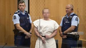 The 28-year-old accused is led before the court just one day after the terror attacks on two mosques in Christchuch (photo: Mark Mitchell/SNPA/NewZealand Herald POOL/AAP/dpa)