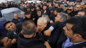 Attack on CHP leader Kemal Kilicdaroglu in Cubuk, a suburb of Ankara, on 21 April 2019 (photo: DHA)