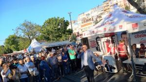 CHP campaign event in the run-up to the Istanbul mayoral elections (photo: Mariam Brehmer)