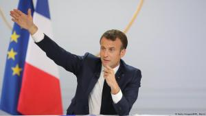 French President Emmanuel Macron gives a speech on 25.04.2019 in Paris (photo: Getty Images/AFP)