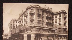 Postcard showing the Hotel Majestic in Tunis in the 1930s (source: Wikipedia)