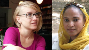 Translator Elisabeth Jaquette (left) and Sudanese writer Rania Mamoun (photos: private)