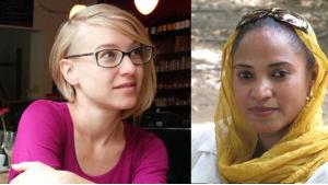Translator Elisabeth Jaquette (left) and Sudanese writer Rania Mamoun (photos: private)