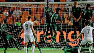 Riyad Mahrez of Algeria scoring against Nigeria in the semi final of the 2019 Africa Cup of Nations (photo: Getty Images/AFP/J. Soriano)