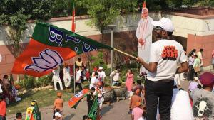 BJP supporters in New Delhi celebrate Modi's victory (photo: DW)
