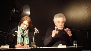 Syrian author Mustafa Khalifa during a reading with the translator Larissa Bender (photo: DW)