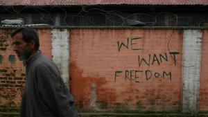 Anti-India graffiti in Kashmir (photo: Marian Brehmer)