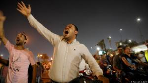Anti-government protesters shouting in Cairo (Reuters/A. A. Dalsh)