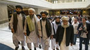 Taliban representatives arrive in Moscow on 28.05.2019 for another round of peace negotiations (photo: picture-alliance/AP)