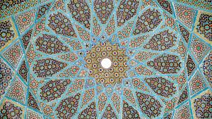 Tomb of the Persion poet Hafez in Shiraz, Iran (source: Wikimedia)