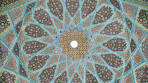 Tomb of the Persion poet Hafez in Shiraz, Iran (source: Wikimedia)