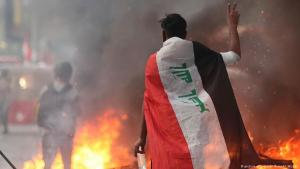 Anti-government protests on 9 November in Baghdad (photo: picture-alliance/AP)