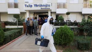 A family committed suicide in this Antalya apartment block on 09.11.2019 (photo: DHA/A. Cinar)