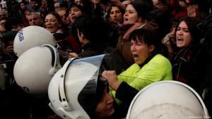 Protesting violence against women in Istanbul on 8 December 2019 (photo: Reuters/U. Bektas)