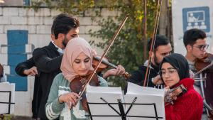Mosul Light Orchestra gives a recital in Erbil (photo: Goethe-Institut/Samyan Shaboy)