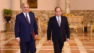 Libyan military commander Khalifa Haftar with Egyptian President Abdul Fattah al-Sisi in Cairo (photo: Reuters)