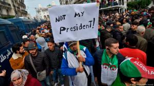 Algerians protesting the election of Tebboune as the new President of Algeria on 13.12.2019 (photo: AFP/Getty Images)