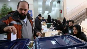 A man casts his vote during parliamentary elections at a polling station in Tehran on 21 February 2020 (photo: Reuters/WANA/I. Tabatabaee)