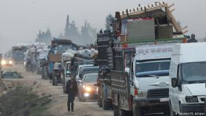 On the run: traffic is heavy on the roads heading north through the Idlib region toward the Turkish border. Soldiers of the Assad regime are advancing from the south and east, aided by their Russian and Iranian allies. Some Syrian rebel groups are supported by Turkey, which also has soldiers of its own in the region. But ordinary people just want to reach safety