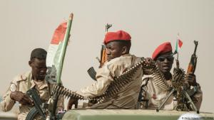Rapid Support Forces (RSF) units in the northwest of Sudan's capital Khartoum (photo: AFP/Getty Images)