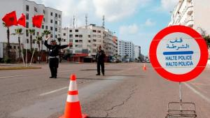 A checkpoint on a street in Casablanca, 27 March 2020 (photo: AP)