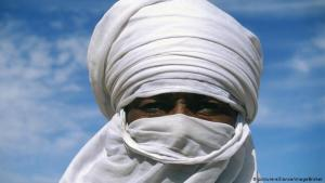 More than merely functional: the turban head covering of the nomadic Tuaregs, as well as the face veils worn by the men, protect them from the sun and sand of the Sahara and Sahel. Yet they're not only worn for functional reasons: head coverings convey respect and dignity, while donning the veil is also a male rite of passage into adulthood