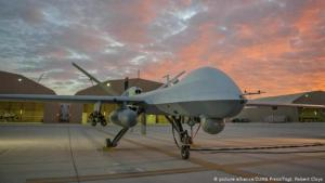 U.S. drone on the tarmac in Afghanistan (photo: picture-alliance/ZUMA Press/Tsgt. Robert Cloys)