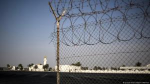 A fence at the closed border between Qatar and Saudi Arabia (photo: picture-alliance/dpa/Valeriy Melnikov)