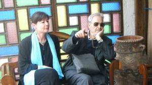 Regina Keil-Sagawe and Albert Memmi in Essaouira in March 2010 (photo: GOUFRANI)