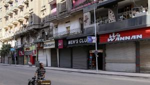 The streets of Cairo are mostly empty at the moment. Were Hassouna still alive, he would be hard pressed to make a living (photo: Getty Images/AFP/Samer Abdallah)