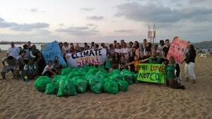 A beach clean-up in Alexandria, Egypt, organised by the Banlastic Egypt Initiative (photo: Banlastic Egypt)