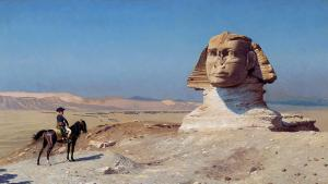 """Bonaparte before the Sphinx"" by Jean-Leon Gerome, 1824 -1904 (source: Wikimedia Commons, Public Domain)"