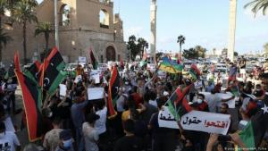 Protests in the Libyan capital, Tripoli (photo: picture-alliance/AA/H. Turkia)