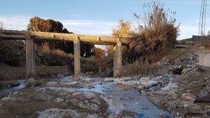 Industrial water pollution in Kasserine, January 2017 (photo: Raoudha Gafrej)