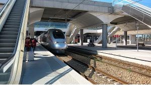 High-speed train Al-Boraq in Rabat Agdal station (photo: Claudia Mende)