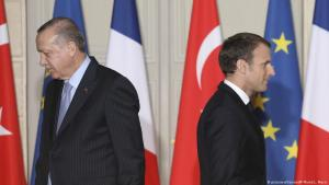 Politically deeply divided: Turkish President Erdogan (left) and French President Macron during a state visit. Archive image from 2018 (photo: picture-alliance/AP/L. Marin)