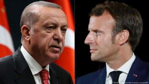 Photo montage: Recep Tayyip Erdogan and Emmanuel Macron (photo: AFP/various sources/Adem ALTAN and Ludovic Marin)