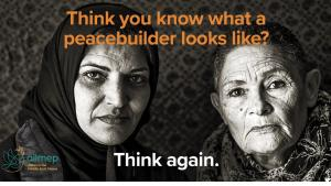 Alliance for Middle East Peace poster campaign (source: Facebook/ALLMEP)