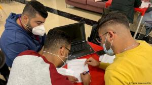 Students from Axsos' first boot camp in Ramallah (photo: DW/Tania Kraemer)