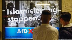 Germany: AfD election poster against the supposed Islamisation of society in Cologne (photo: picture-alliance/Geisler-fotopresse)