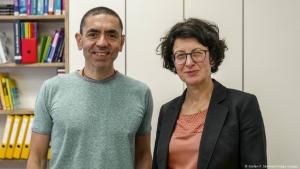 Uğur Şahin and Özlem Türeci (photo: Stefan F. Sämmer/Imago)