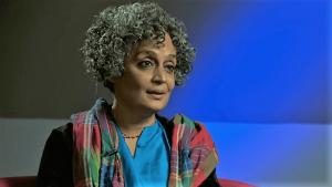 Indian author Arundhati Roy (source: YouTube; nationalheraldindia.com)
