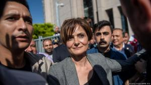 Opposition politician Canan Kaftancioglu of the Kemalist CHP has begun using the government's own tactics against it (photo: Getty Images/AFP/B. Kilic)
