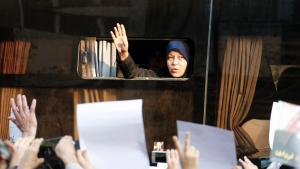 Faezeh Hashemi, daughter of former Iranian president, Rafsanjani (photo: Atta Kenare/AFP/Getty Images)